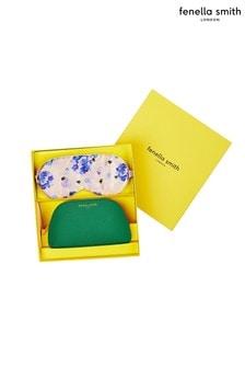 Fenella Smith Bee  Hydrangea Eyemask  Green Cosmetics Case