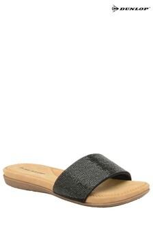 Dunlop Ladies Glitter Slide Sandals
