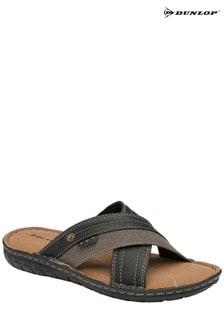 Dunlop Men's Faux Leather Mule Sandals