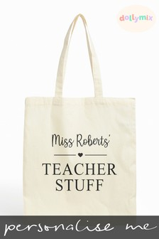 Personalised Teacher Tote Bag by Dollymix