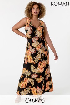 Roman Curve Maxi Dress