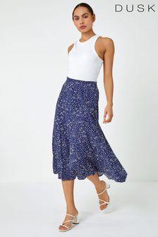 Roman Confetti Spot Print Midi Skirt