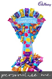 Personalised Cadbury Roses Bouquet by Yoodoo