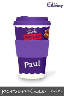 Personalised Cadbury Dairy Milk Fruit & Nut Ecoffee Cup by Yoodoo