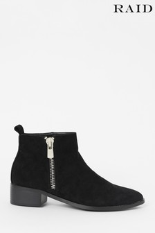 Raid Zip Up Suedette Ankle Boot