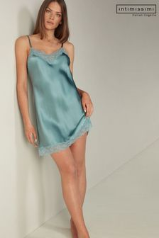 Intimissimi Silk Slip with Lace Insert Detail