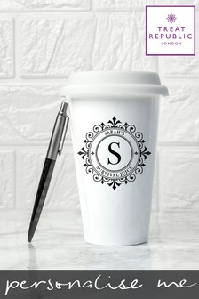 Personalised Monogrammed Ceramic Eco Cup by Treat Republic