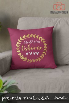 Personalised Laurel Wreath Cushion by Instajunction
