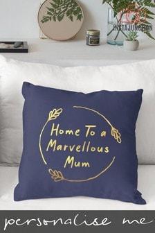 Personalised Marvelous Mum Cushion by Instajunction