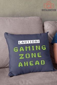 Instajunction Caution Gaming Zone Cushion