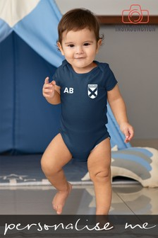 Personalised Scotland Football Supporter Babygrow by Instajunction