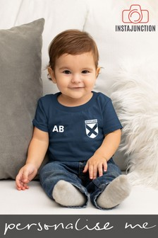 Personalised Scotland Football Supporter Baby T-Shirt by Instajunction