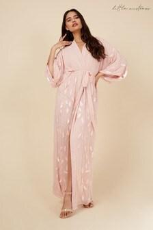 Little Mistress Pink Embellished Short Sleeve Kimono