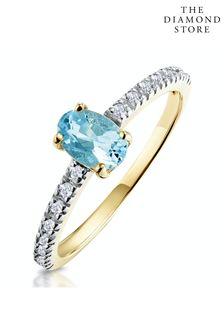 The Diamond Store 0.35CT And Diamond 9K Yellow Gold Ring