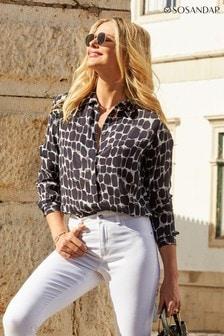 Sosandar Giraffe Print Woven Shirt