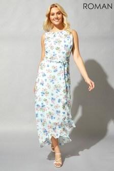 Roman Floral Maxi Dress
