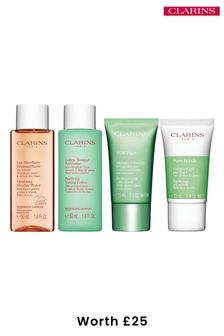 Clarins Purifying Cleansing Travel Kit (worth £25)