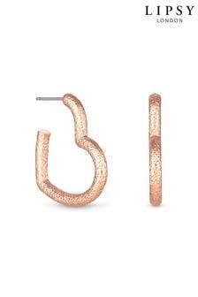 Lipsy Jewellery Heart Glitter Hoop Earring