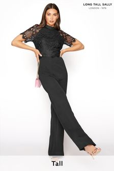 Long Tall Sally Lace Sleeve Jumpsuit