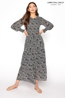 Long Tall Sally Long Sleeve Tiered Midi Dress