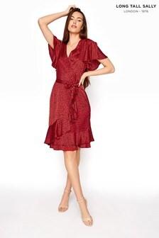 Long Tall Sally Short Frill Wrap Dress