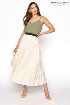 Long Tall Sally Pleated Maxi Skirt