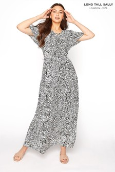 Long Tall Sally Gathered Tie Front Maxi Dress