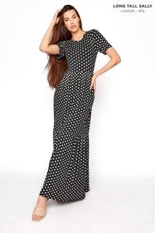 Long Tall Sally Spot Tiered Midaxi Dress