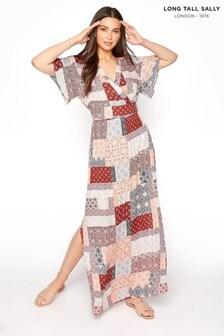 Long Tall Sally Patchwork Split Side Maxi Dress
