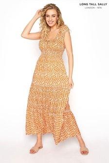 Long Tall Sally Tiered Shirred Waist Maxi Dress