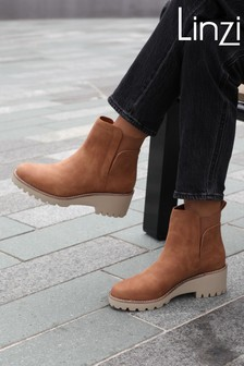 Linzi Melonie Wedge Sole Pull On Ankle Boot