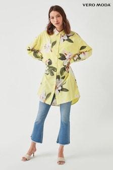 Vero Moda Printed Longline Tunic Shirt
