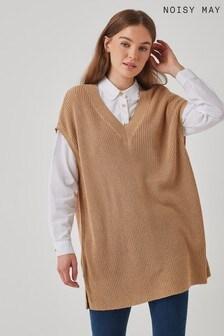 Noisy May V Neck Knitted Vest
