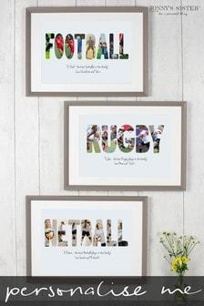 Personalised Sporting Photo Print by Jonnys Sister