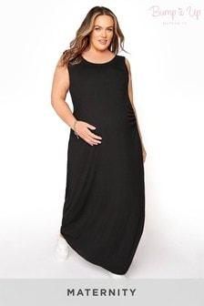 Bump It Up Maternity Scoop Neck Maxi Dress