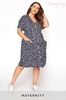 Bump It Up Maternity Button Through Tunic Dress