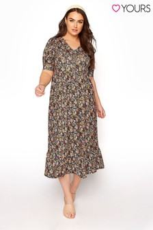 Yours Tiered Smock Ditsy Floral Dress