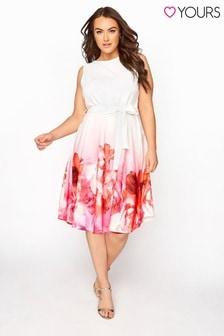Yours Border Floral Skater Dress