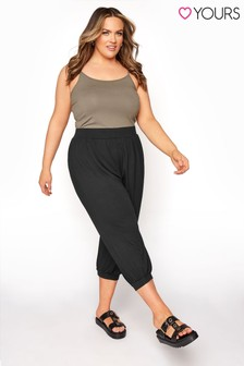 Yours Jersey Harem Crop Trouser