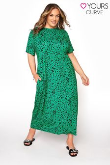 Yours Printed Smock Maxi Dress Floral