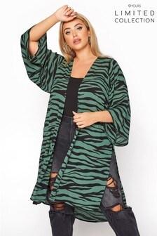Yours Limited Zebra Kimono