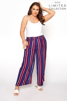 Yours Limited Stripe Wide Leg Trousers