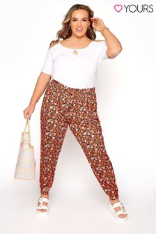 Yours Shirred Waist Trouser