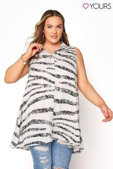 Yours Sleeveless Shirt Animal Stripe
