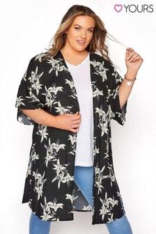 Yours Linear Floral Longline Kimono