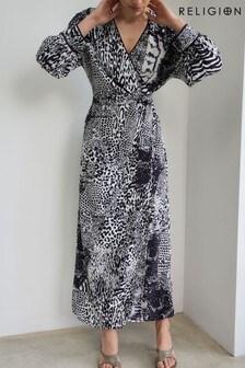 Religion Silence Maxi Wrape Dress