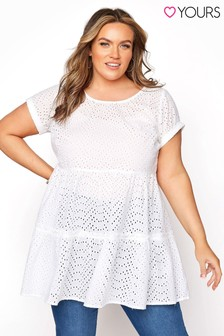 Yours Broderie Tiered Tunic
