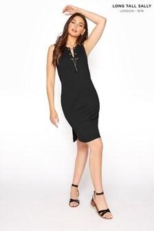 Long Tall Sally Lace Up Sleeveless Tunic Dress