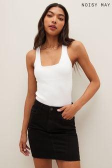 Noisy May Fitted Denim Skirt