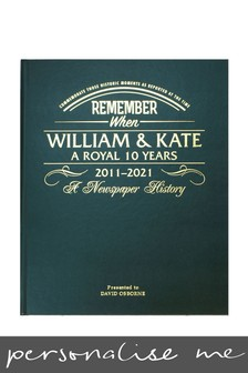Personalised William and Kate Anniversary Newspaper Leatherette Book by Signature Book Publishing